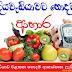 දියවැඩියාව වළකන හොදම ආහාරපාන ලැයිස්තුව ( List Of Best Foods And Drinks To Prevent Diabetes )