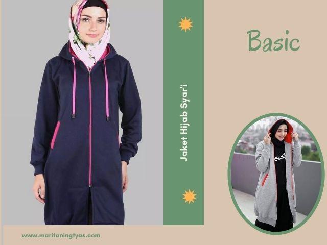 jaket wanita muslimah basic