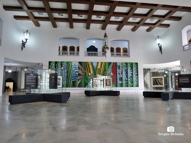 Vista ampla da Exposição Água, Epifania da criação - Palácio dos Bandeirantes - Morumbi - São Paulo