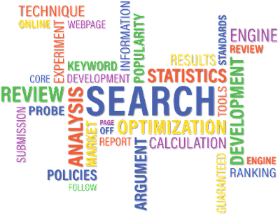 an image representing seo words