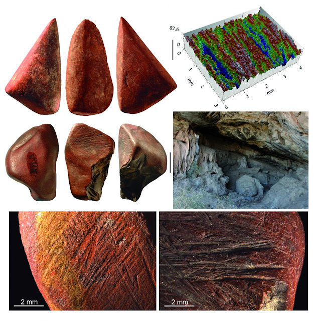 Ochre use by Middle Stone Age humans at Ethiopian cave persisted over thousands of years