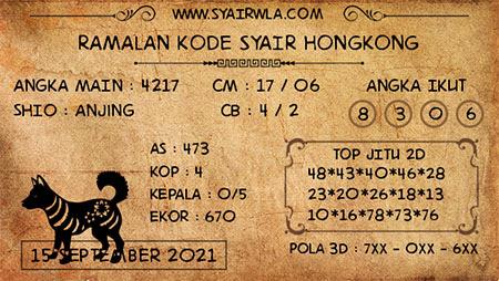 Ramalan HK Rabu 15 September 2021