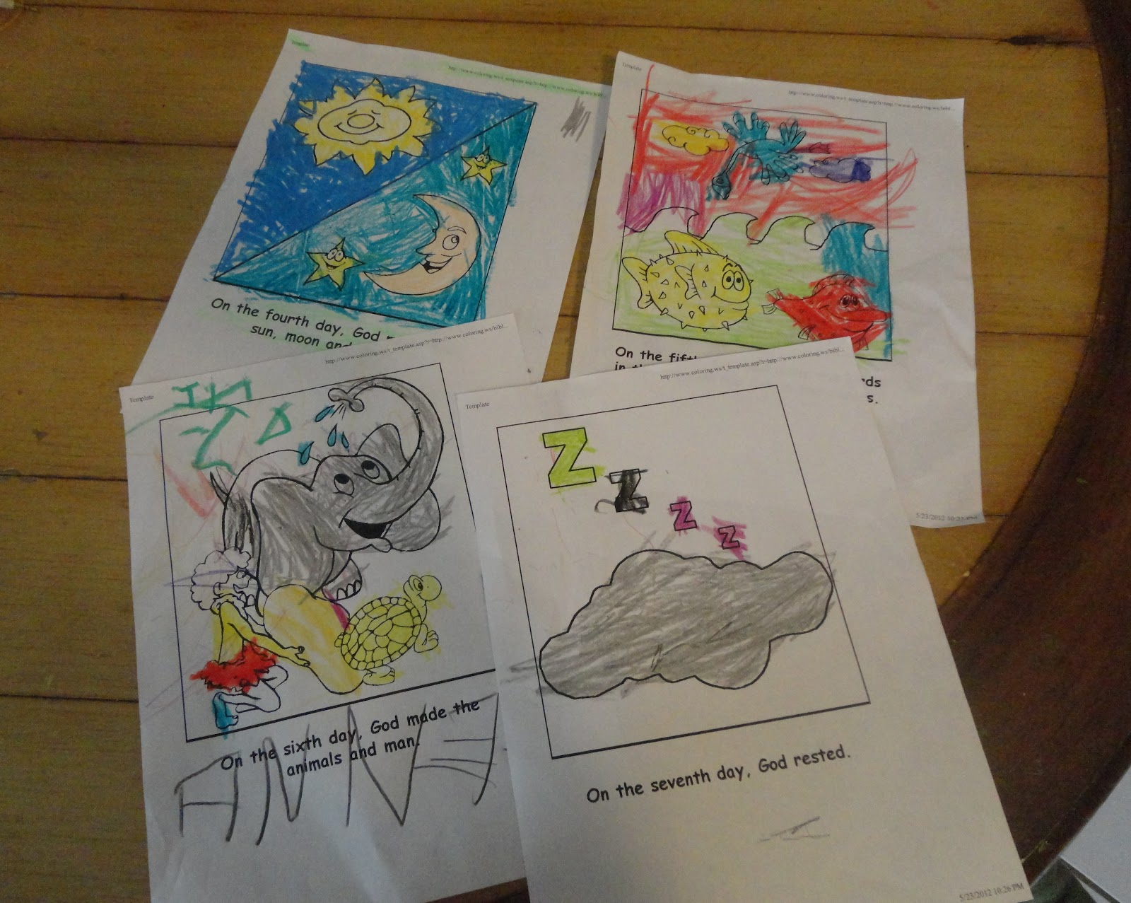 Tiny Hearts Blog Lesson 9 Creation Days 4