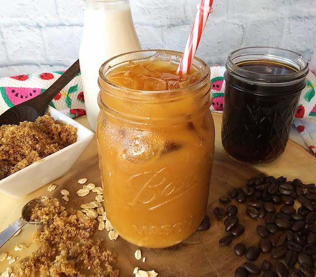 Dairy-free Iced Brown Sugar Oat Milk Coffee Latte