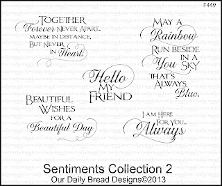 Our Daily Bread Designs, Sentiments Collection 2