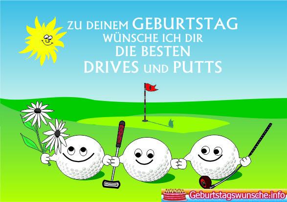 Geburtstagswünsche für Golfer