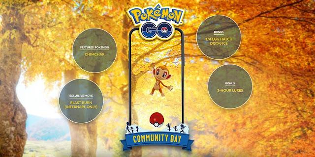 Pokémon GO (Mobile): dia comunitário de novembro vai trazer Chimchar