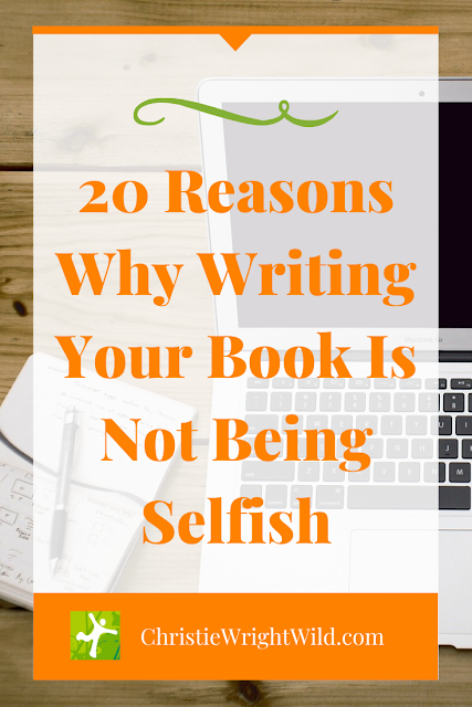 Writing a book takes a lot of time and effort. Kudos to the writer who takes on such an endeavor. But what if other people call you selfish? What if you secretly feel that you really are being selfish? How do you step out of the shame and into your book?