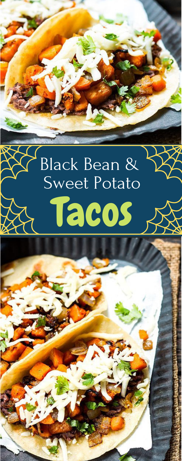 BLACK BEAN & SWEET POTATO TACOS #dinner #healthyrecipe
