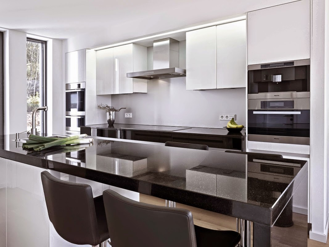 Sinfon a de blancos y negros cocinas con estilo for Cocinas modernas negras