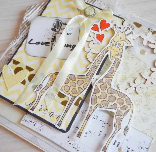 Stempelek z żyrafami