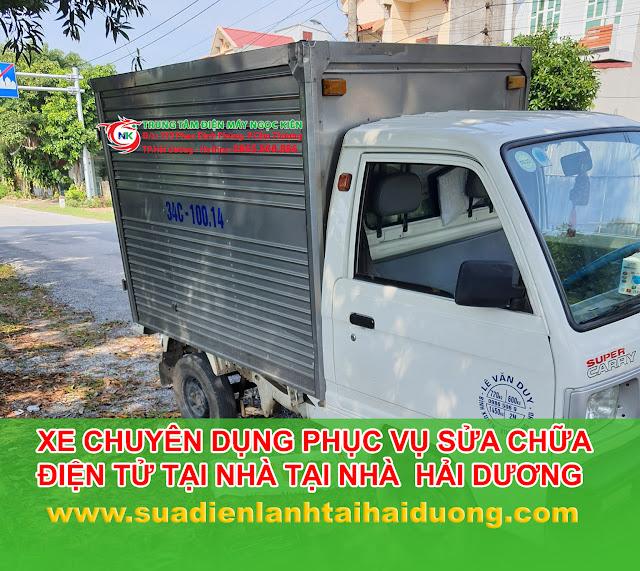 Xe chuyên dụng sửa chữa bình nóng lạnh tại nhà ở hải dương
