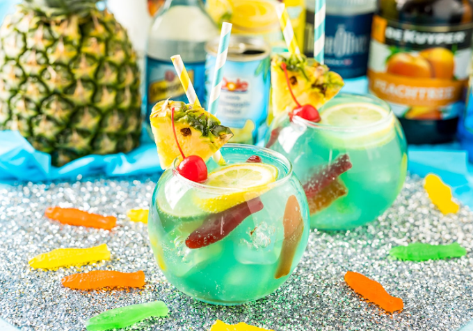Fish Bowl Drink Party #drink #recipes