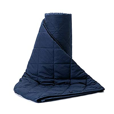 """55% OFF BUZIO 80x87"""" 20 lbs Cooling Cotton Weighted Blanket For Adults"""