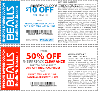 Bealls coupons for march 2017