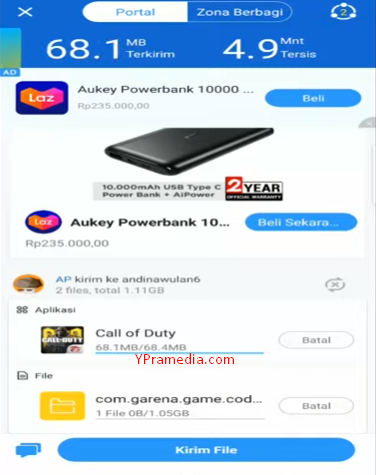 Cara Mengirim Game CODM dengan Shareit (Call of Duty Mobile)