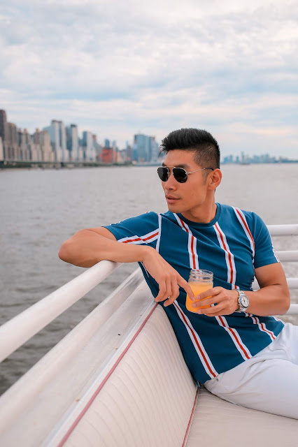 Leo Chan wearing Nautical Inspired Outfit | Asian Model and Blogger