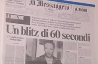 The front page headline in the Rome newspaper Il  Messaggero the day after General Dozier was freed