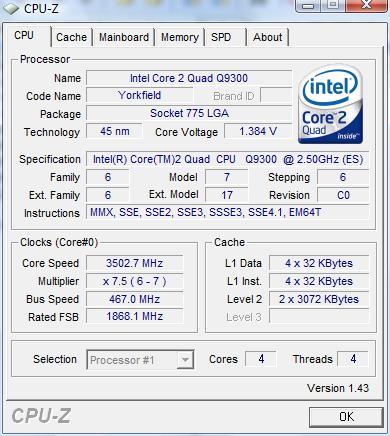 CPU-z Q9300