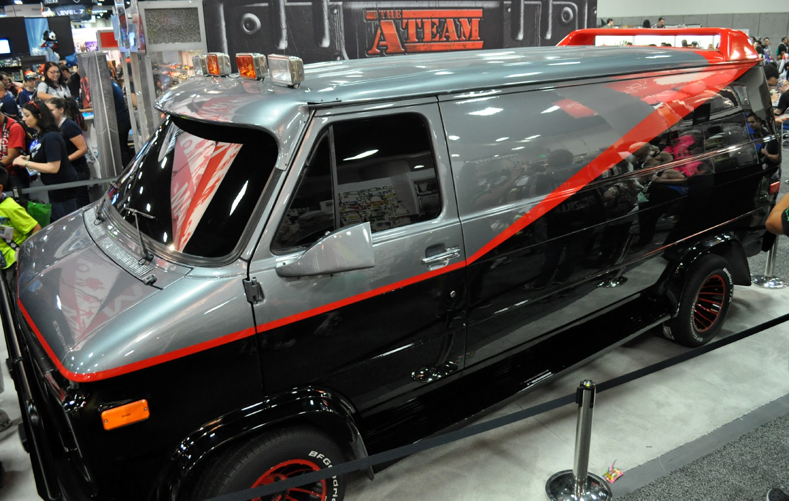 Just A Car Guy The Team Van From Recent Movie Was At Comic Con