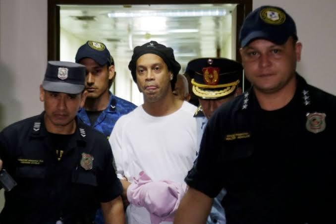 Court Rejects Ronaldinho Appeal after fake passport incident:Remains under arrest