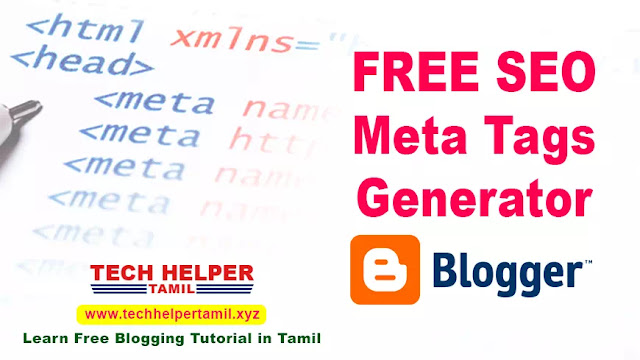 meta tags generator for blogger tech helper tamil