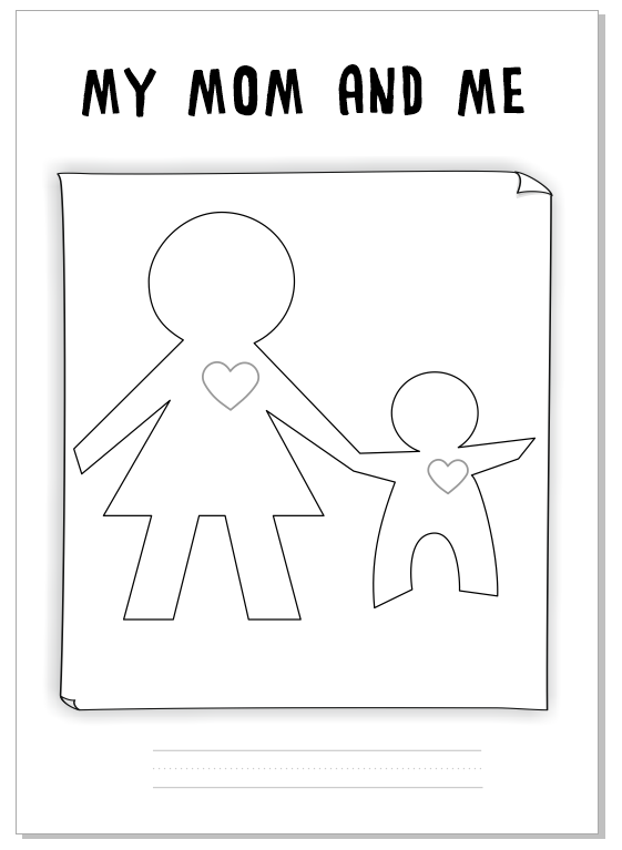 "Worksheet for Mother's Day ""My mom and me"" by Eva Barceló Marqués @evacreando"