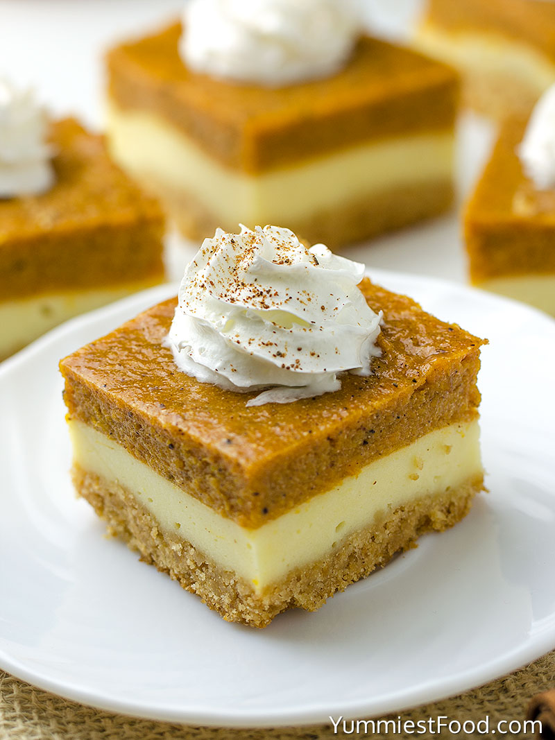Pumpkin Cheesecake Bars – Will make for a super tasty sweet treat during the fall and holiday season. This perfect Pumpkin Cheesecake Bars is delicious and very good! Perfect Thanksgiving Dessert!