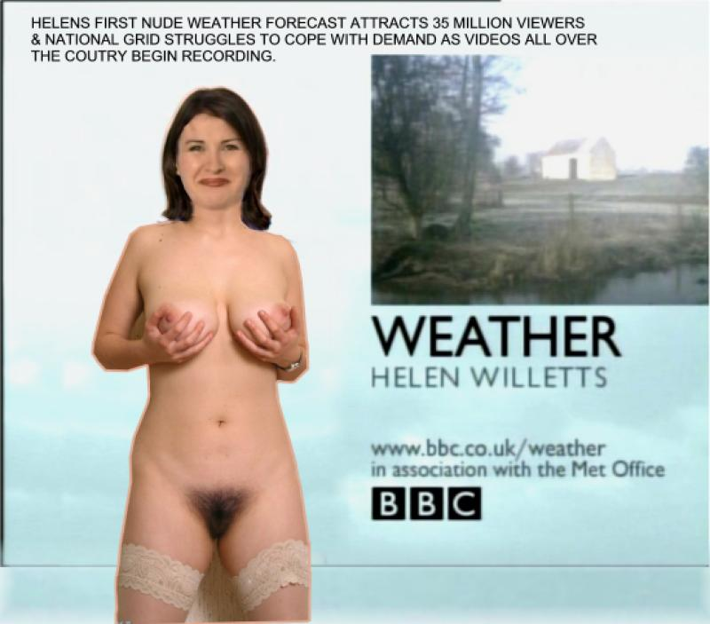 Can weather girls naked fakes share your