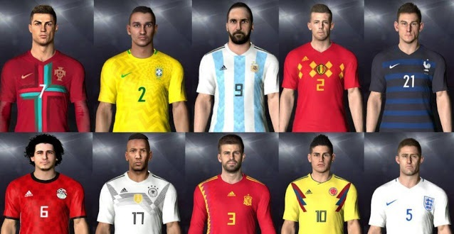 PES 2017 New Nations Kitpack Includes 10 Kits WC 2018