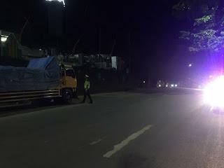 Personel Satlantas Polres Enrekang Patroli Malam Cegah Kriminalitas dan Laka Lantas