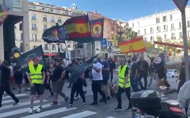Grupos neonazis marchan en Madrid