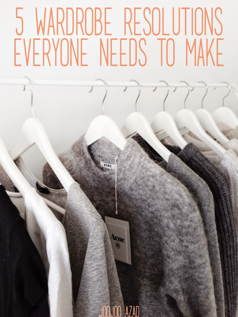 minimal wardrobe, ethical fashion, wardrobe resolutions, fashion