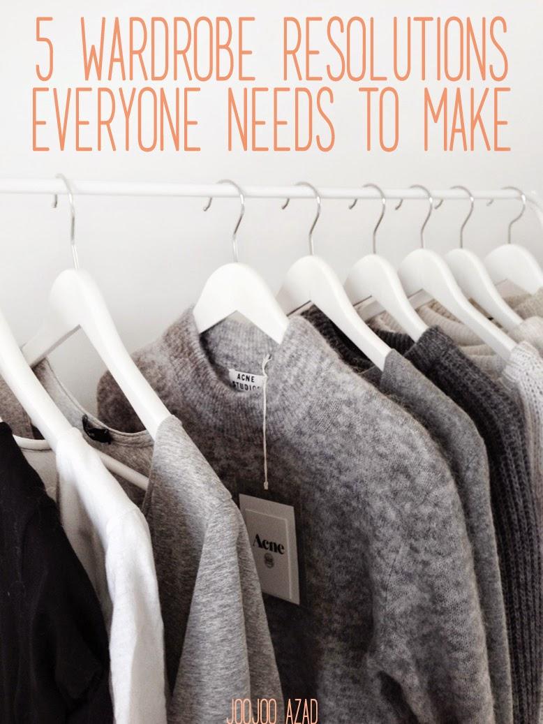 minimal wardrobe, ethical fashion, wardrobe resolutions, fashion