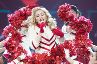 Madonna on stage image from Bobby Owsinski's Music 3.0 blog
