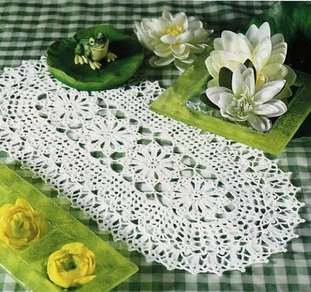 DIY - Decorando Com Crochê - Caminho de Mesa Oval Em Crochê Com Gráfico