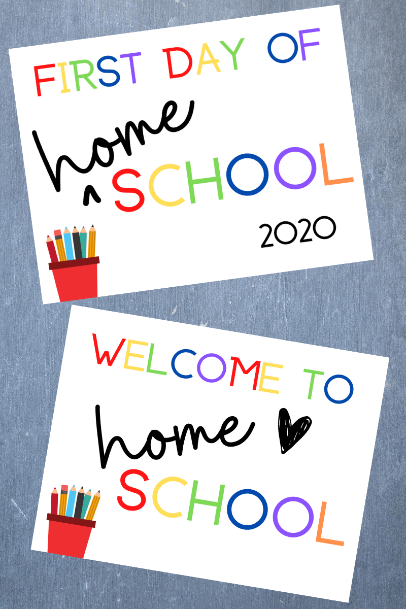 Free First Day Of Homeschool Printable Set Sunny Day Family