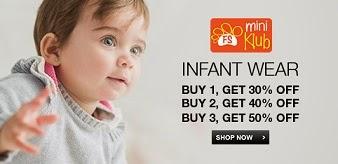 Mini Klub Infant Wear: Buy 1 Get 30% Extra Off | Buy 2 Get 40% Extra Off | Buy 3 Get 50% Extra Off @ Flipkart