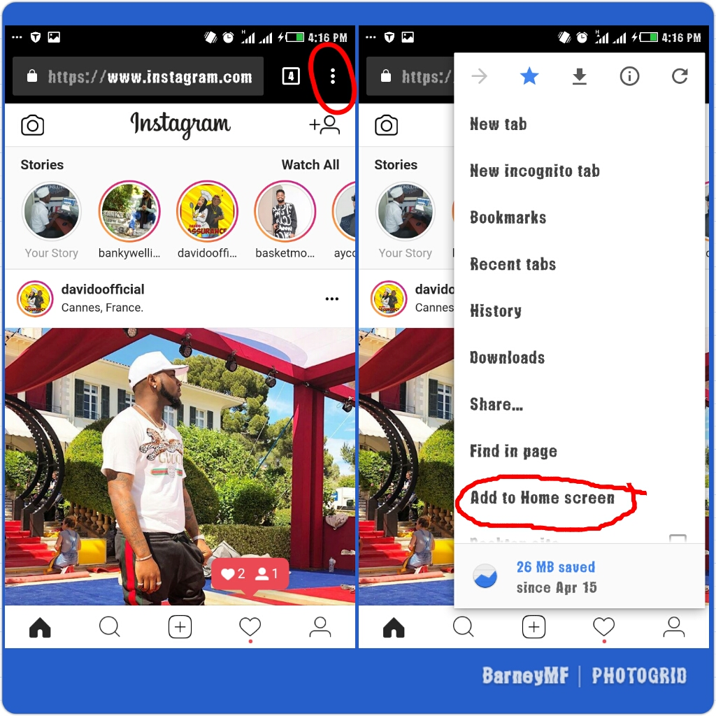 How to install Instagram Lite app using Google Chrome and