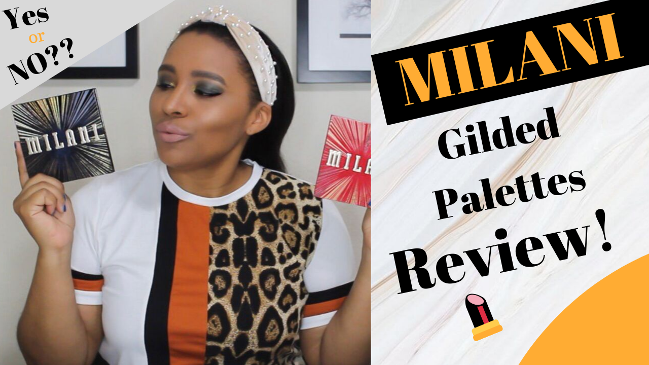 Milani, Milani cosmetics, gilded eye shadow palette, swatches, makeup reviews 2019