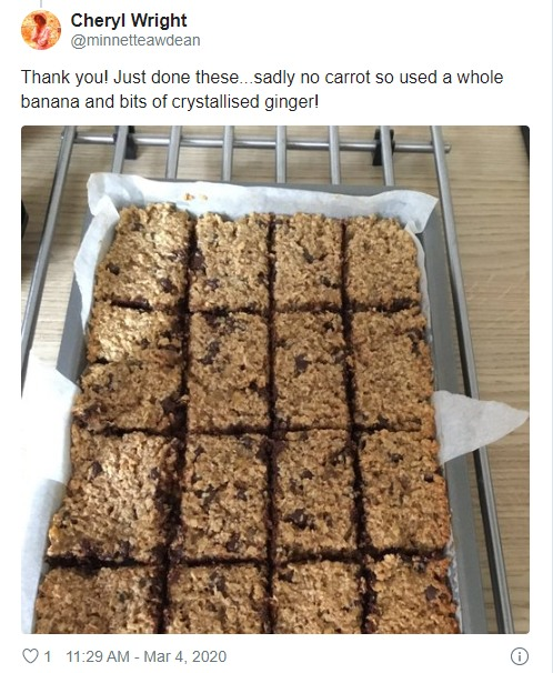 readers photo of her batch of flapjacks