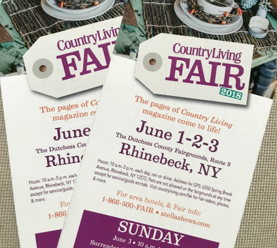 Country Living Fair in Rhinebeck Ticket Giveaway