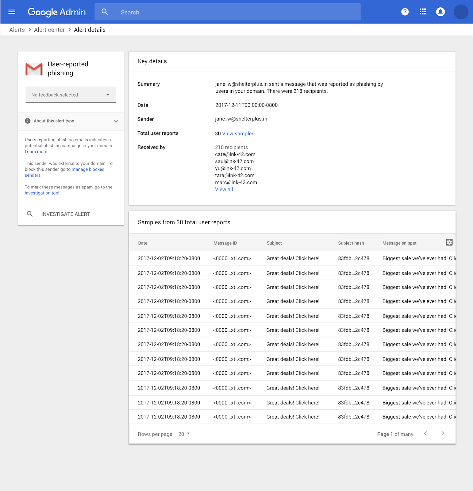 G Suite Updates Blog: Alert center for G Suite generally