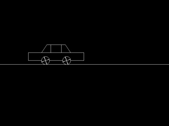 Simple program to create a moving car in graphics