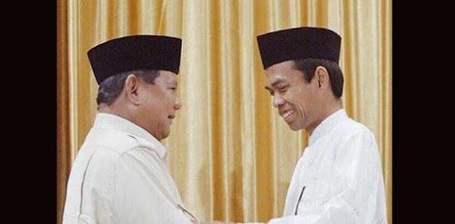 Pertemuan UAS Dan Prabowo Tsunami Politik Bagi Jokowi