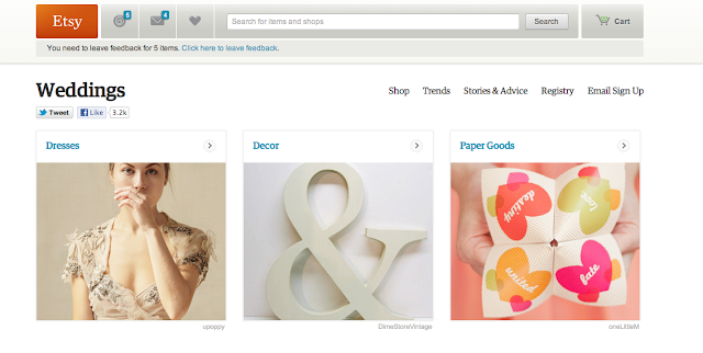 10 Websites to Help You Plan Your Wedding from Oh Lovely Day: Etsy