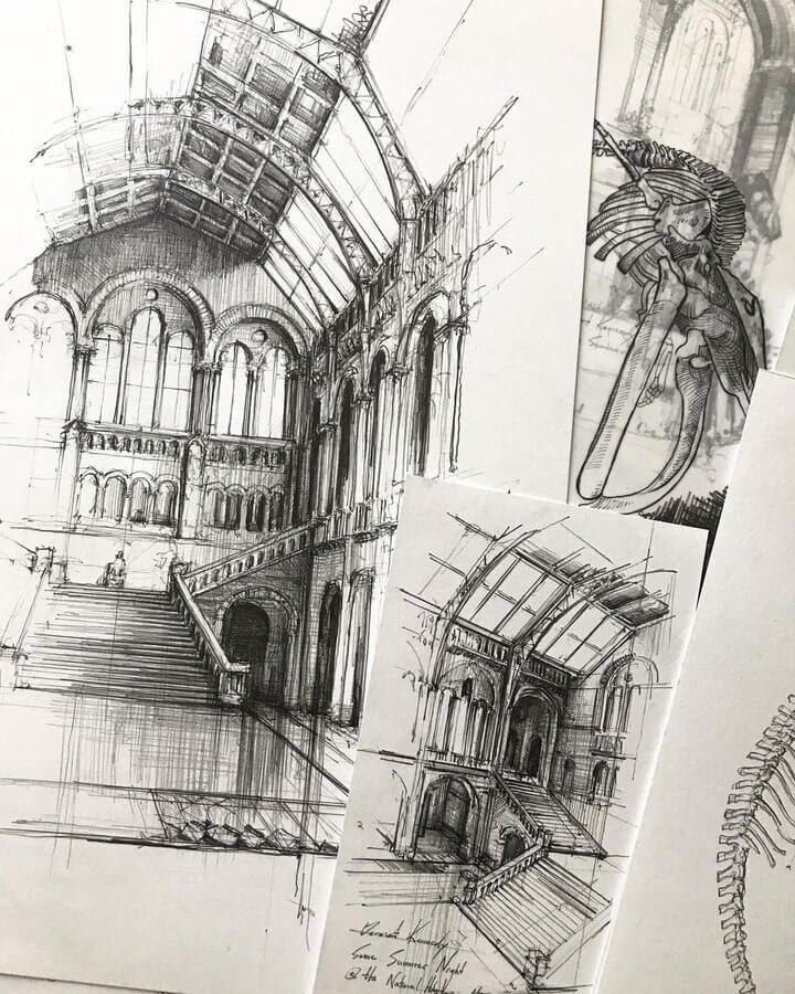 01-Natural-History-Museum-Drawing-Jerome-Tryon-www-designstack-co