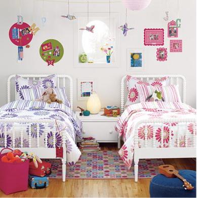 Habitaciones para dos ni as hermanas dormitorios colores for Cuartos para ninos y ninas juntos