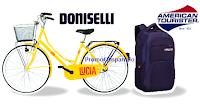 Logo Concorso ''Come lo vuoi TUC'': vinci 74 biciclette Doniselli e 74 Zaini American Tourister