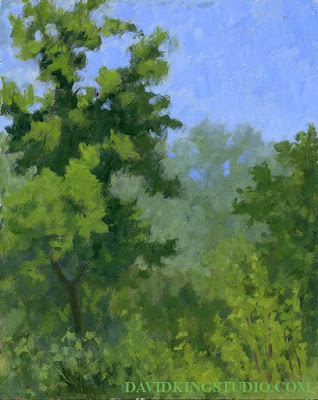 art painting plein air nature acrylic landscape green